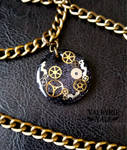 Steampunk Clockwork Necklace by ValkyrieVale
