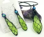 Glow-in-the-Dark Wire Wrapped Jewelry Set