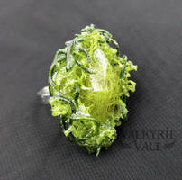 Green Moss Terrarium Ring by ValkyrieVale