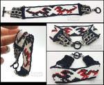 Beaded Dragon Bracelet by ValkyrieVale