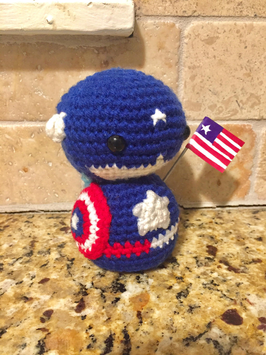 FREE PATTERN!!! CAPTAIN AMERICA AVENGERS By: primeivon craft Bahan ... | 1366x1024