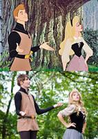 Aurora e Filippo photo vs cartoon by LadyGiselle