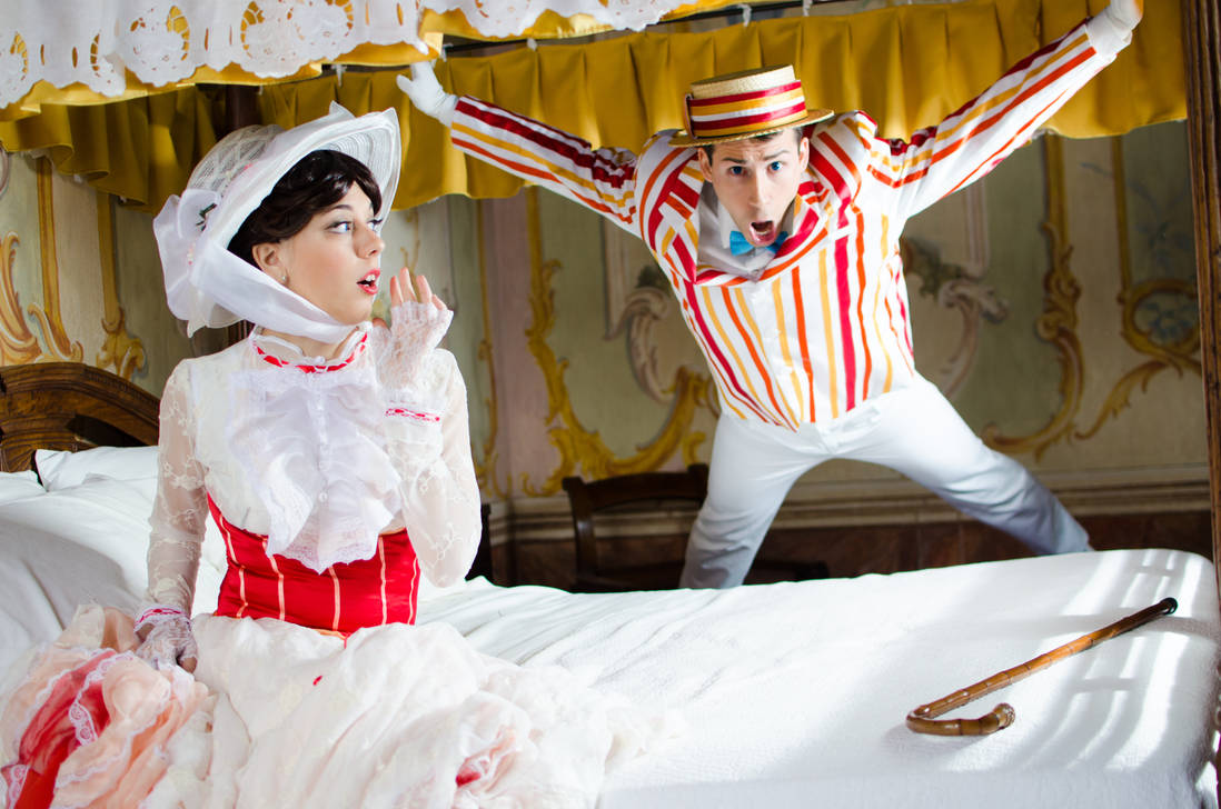Mary Poppins and....crazy Bert XD