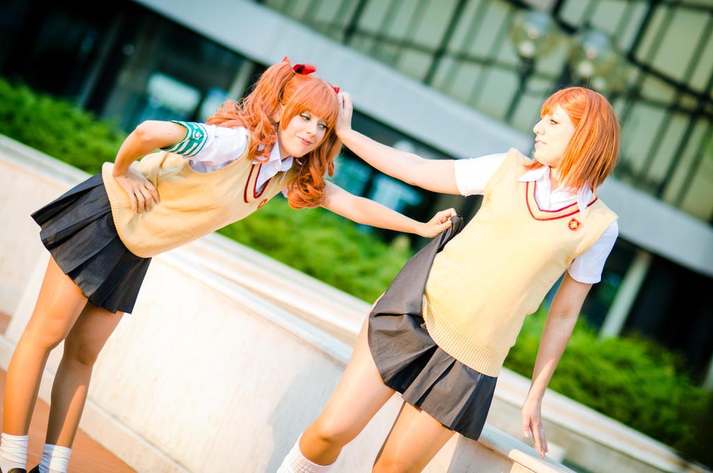 Misaka and Kuroko by LadyGiselle