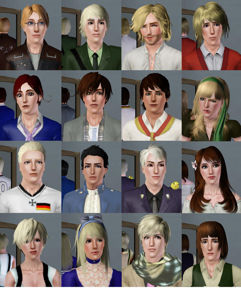Sims 3 Anime Characters : Hetalia characters in sims by natersal on deviantart