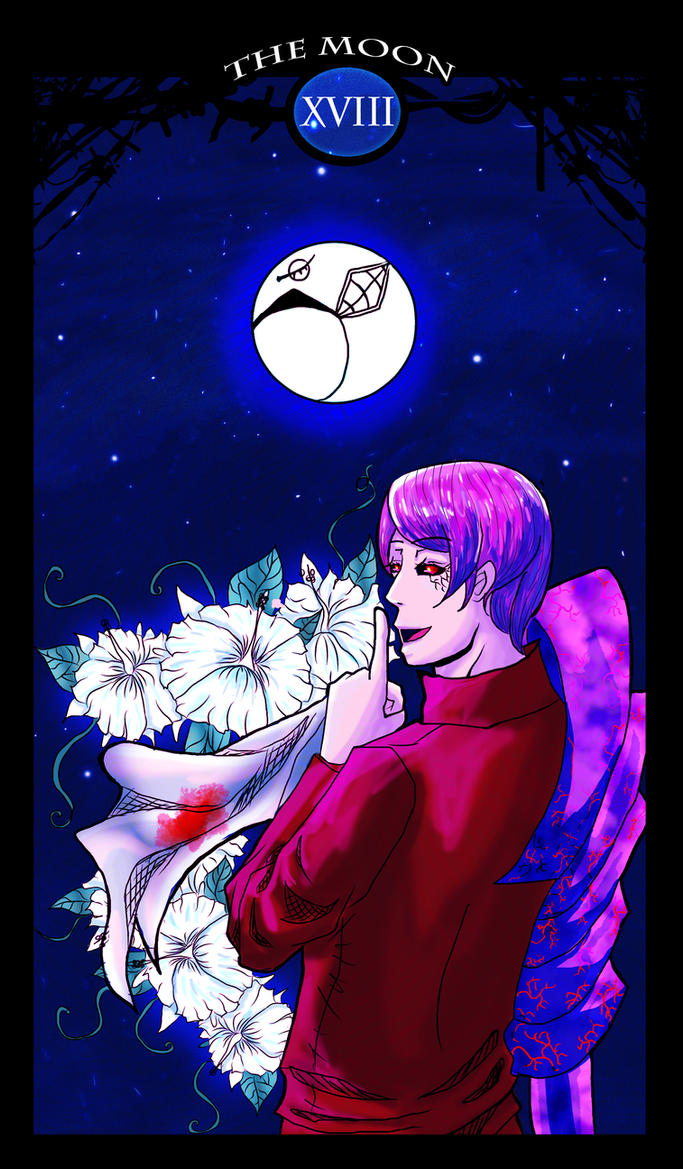 Tokyo Ghoul Tarot :  XVIII THE MOON by natersal