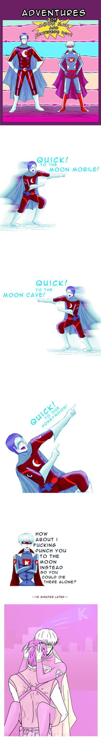 Stupid Superhero Tsukikane AU by natersal