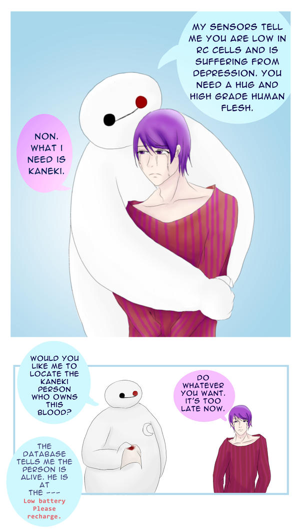 Baymax and Tsukiyama Shuu by natersal