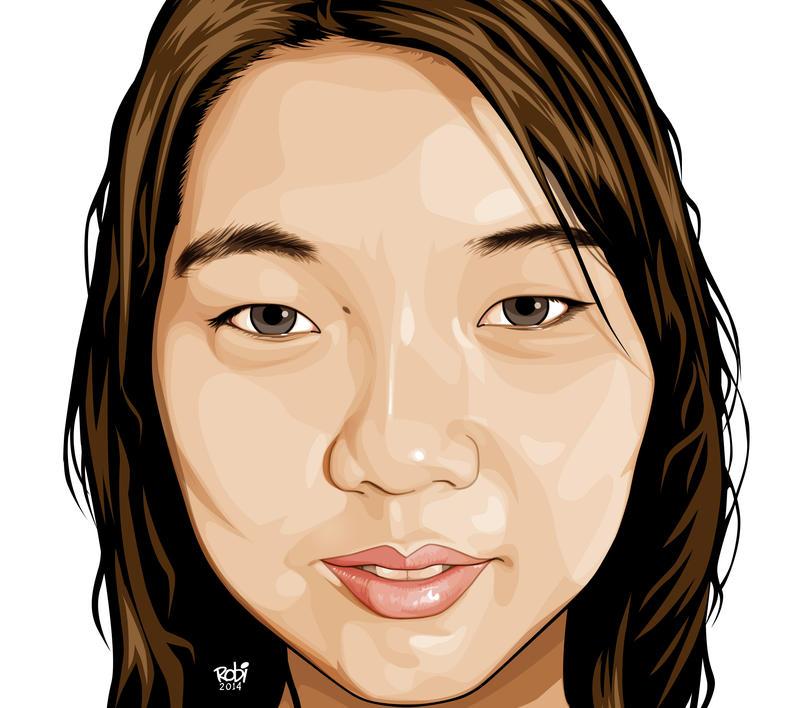 oriental face by IborArt