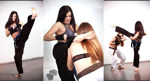 Olesia Vs Tina in Karate fight by Edward-Photography