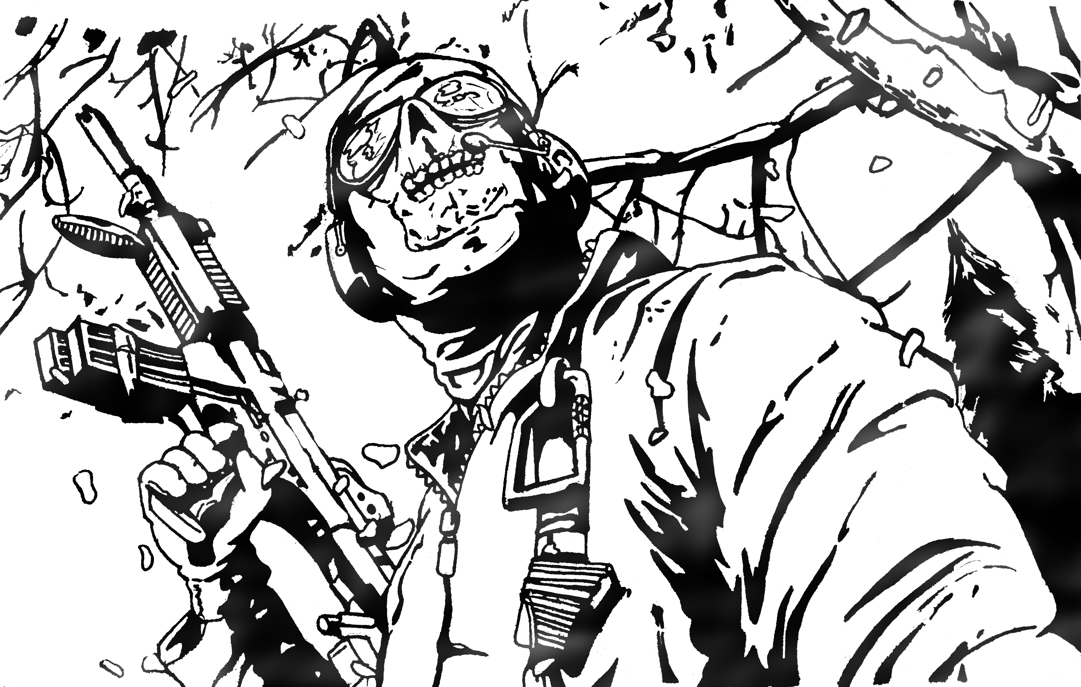 Ghost Call Of Duty Mw2 By White Cyanide On Deviantart Call Of Duty Black Ops Coloring Pages
