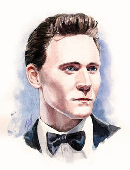 watercolor portrait of Mr. Hiddleston