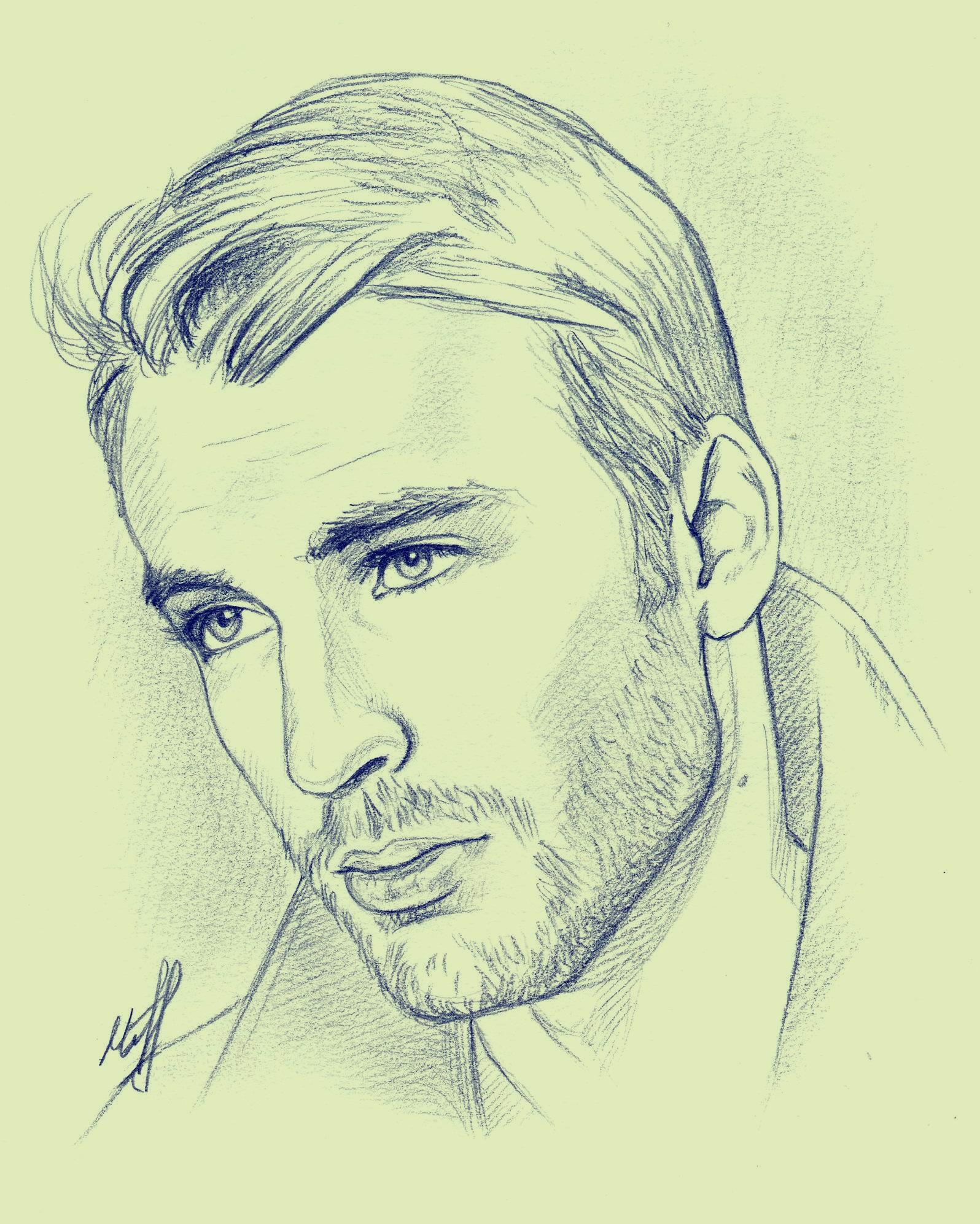 Chris Evans Sketch By KseniaParetsky On DeviantArt