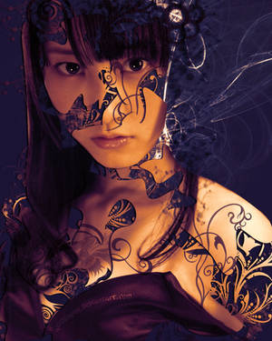 Rena Matsui (Floral Abstrak Design) by D-GodKnows