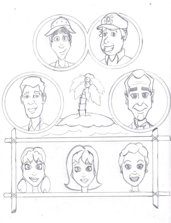 gilligan s island coloring pages