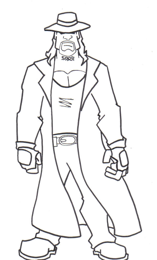 Kane And Undertaker Coloring Pages