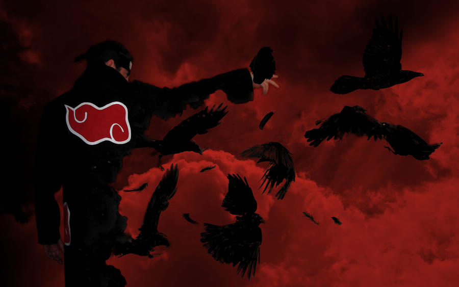 Itachi to crows concept by Logas69Itachi Crows Wallpaper