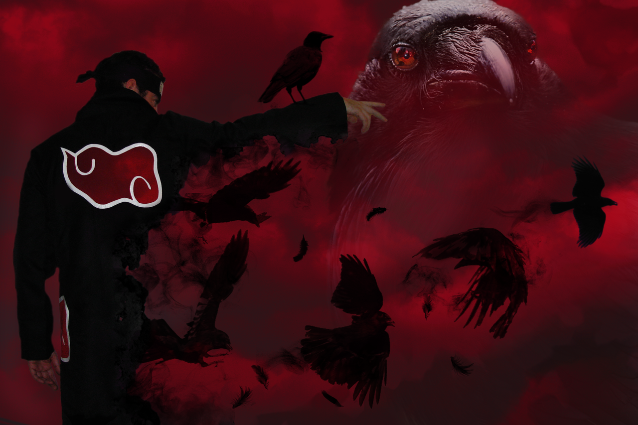Itachi to Crows version 2 by Logas69Itachi Crows Wallpaper