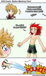 KH2 Comic: Button Mashing Time by Silverookami