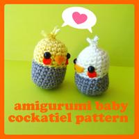 amigurumi cockatiel pattern by berrysprite