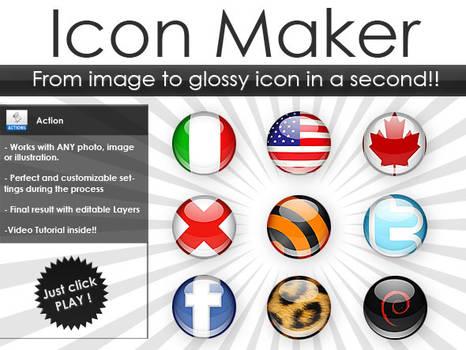 Glossy 3D Icon Generator
