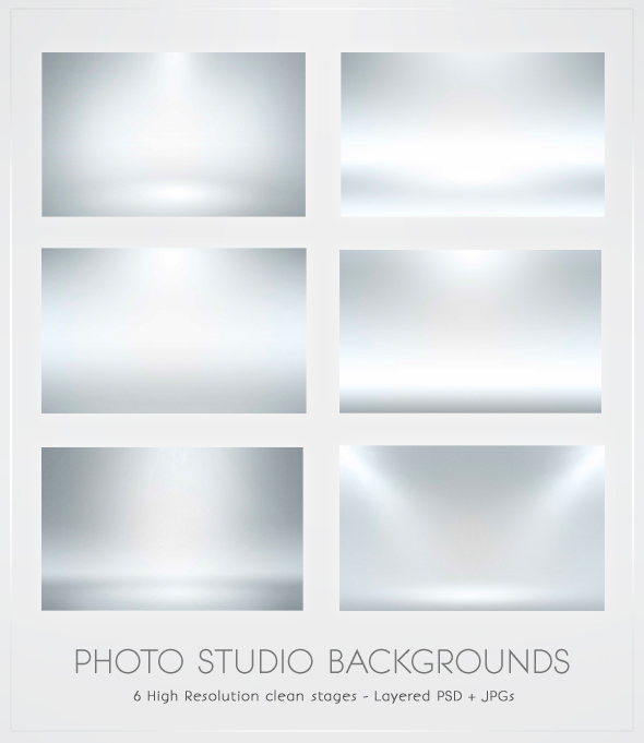 Photo white floor spotlight BG
