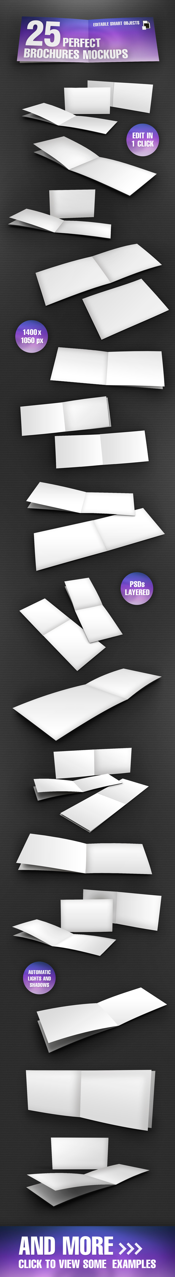 Perfect Realistic Brochures Mock-up Set by Giallo86