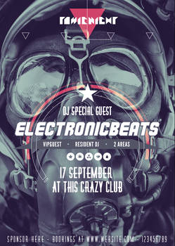 Electronic Beats - A3 Music Party Flyer