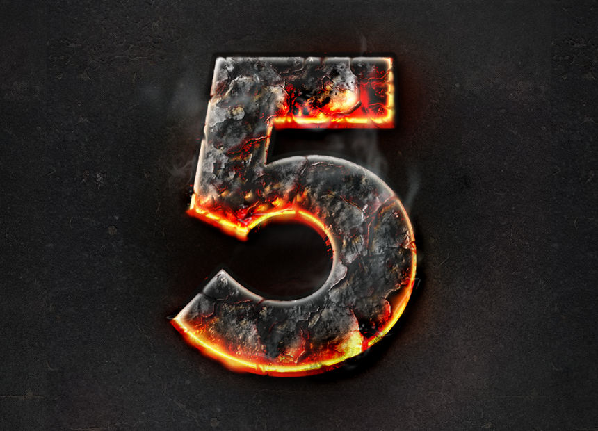 Fire burning text effect - Photoshop