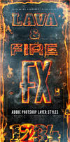 Fire and Lava Photoshop Layer Styles Set