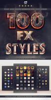 100 Layer Styles Bundle - Text Effects Set