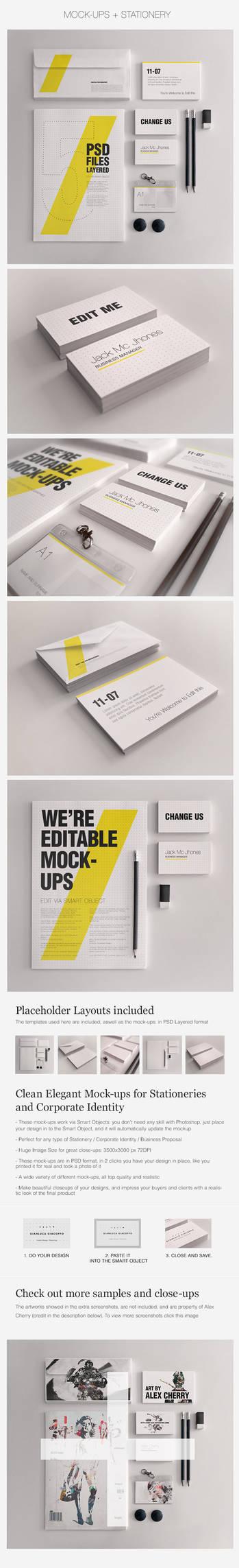 Realistic Stationery Mockups Set 1- Corporate ID