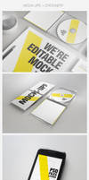 Realistic Stationery Mockups Set 2- Corporate ID