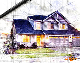 Pencil Drawing Sketch Effect for Adobe Photoshop by Giallo86