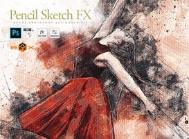 Pencil Drawing Sketch Effect for Adobe Photoshop
