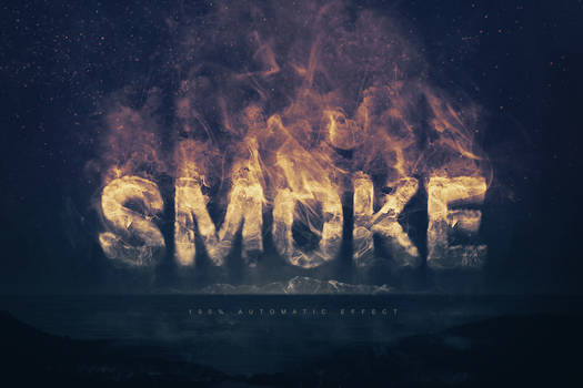 Real Smoke Logo Text Effect - for Adobe Photoshop