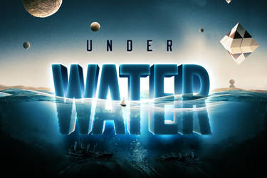 Underwater Text Logo Effect Template
