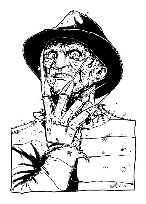 Freddy kruger coloring pages ~ Freddy Krueger Coloring Pages Sketch Coloring Page