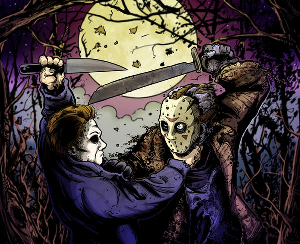JASON VS MICHEAL by mister-bones