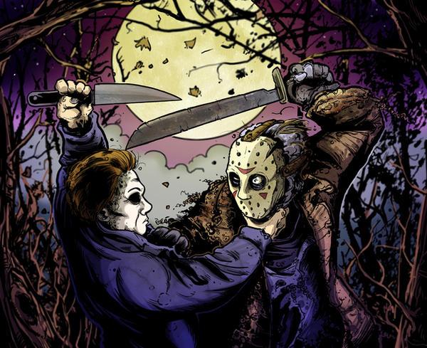 JASON VS MICHEAL by mister-bones