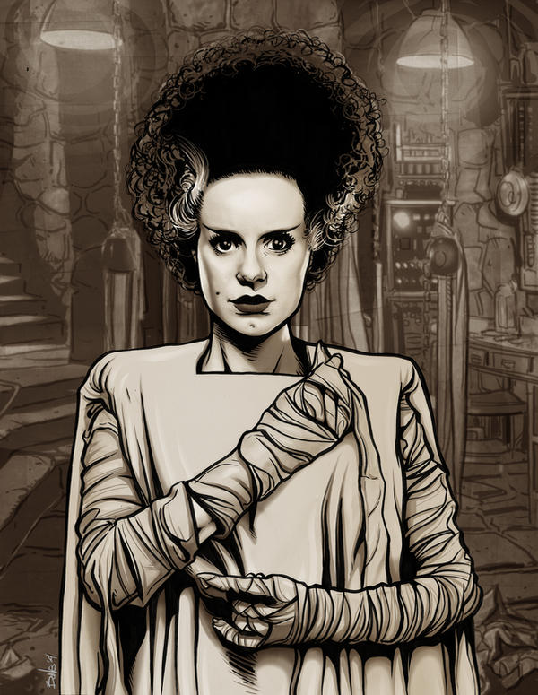 THE BRIDE OF FRANKENSTEIN by mister-bones