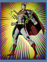 Anaglyph 3D Superman vschains by 3dfantasys