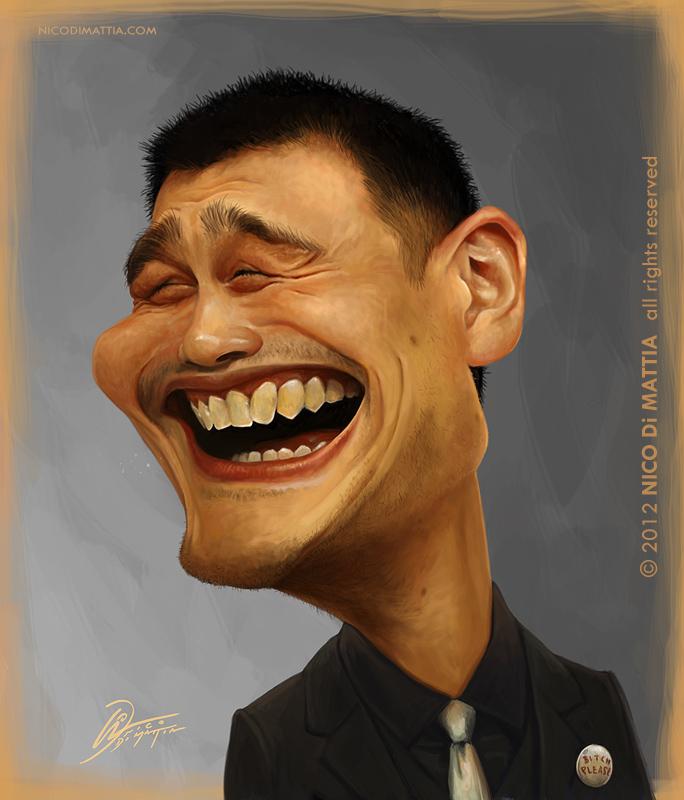 Yao Ming Face YAO MING by macpulenta...