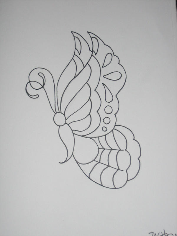 Butterfly Outline By Armada27 On DeviantArt