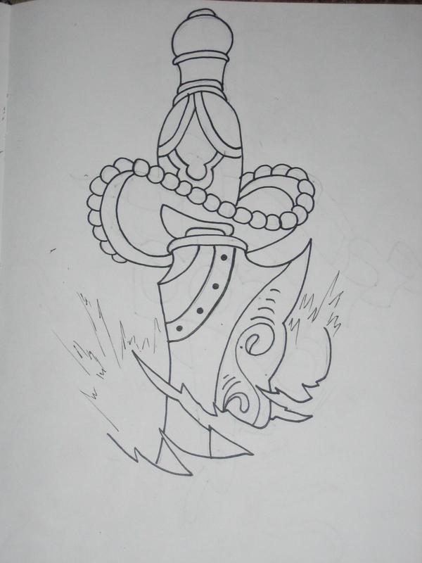 Dagger Tattoo Outline: Old School Dagger Outline By Armada27 On DeviantArt