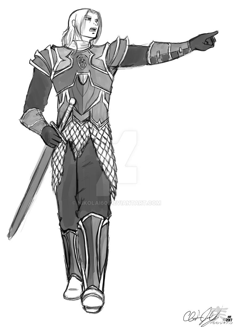 Sir Trystrem - The Shining Knight by nikolai60
