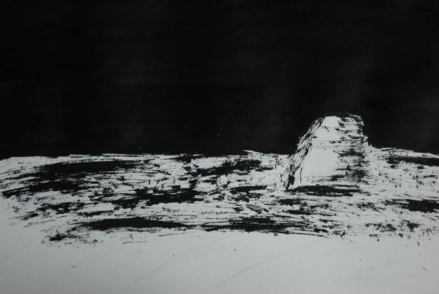 lonely rock by Ealin