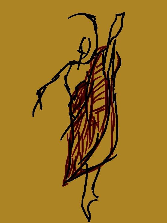 Quick sketch - Dancer III by Ealin