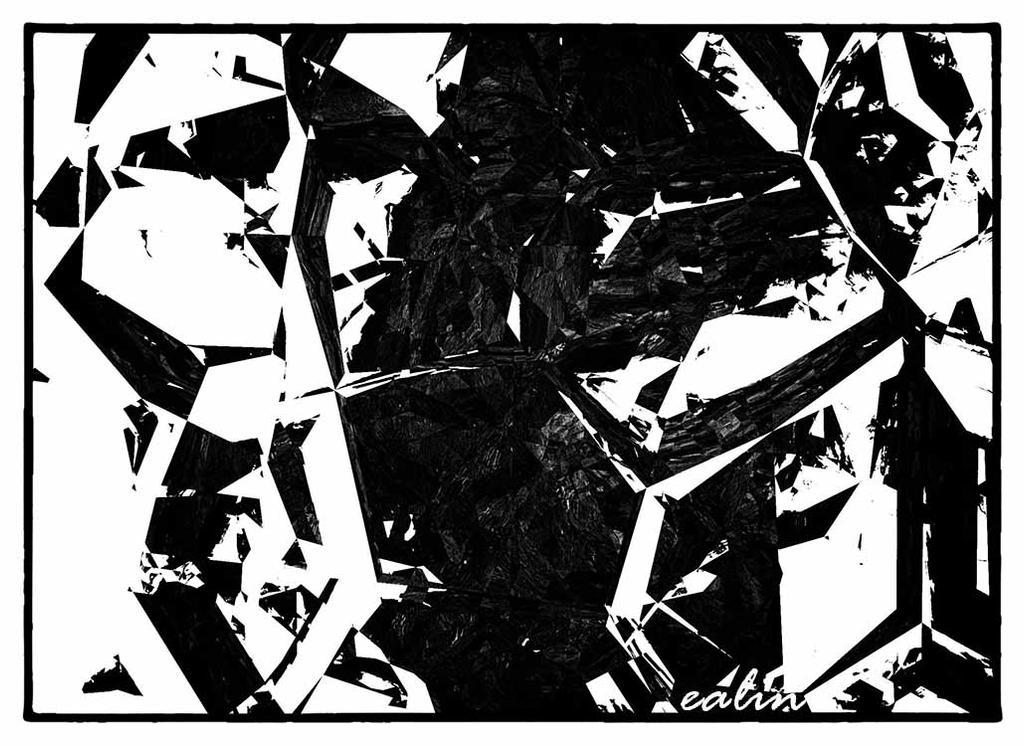 Broken Mandala BW by Ealin