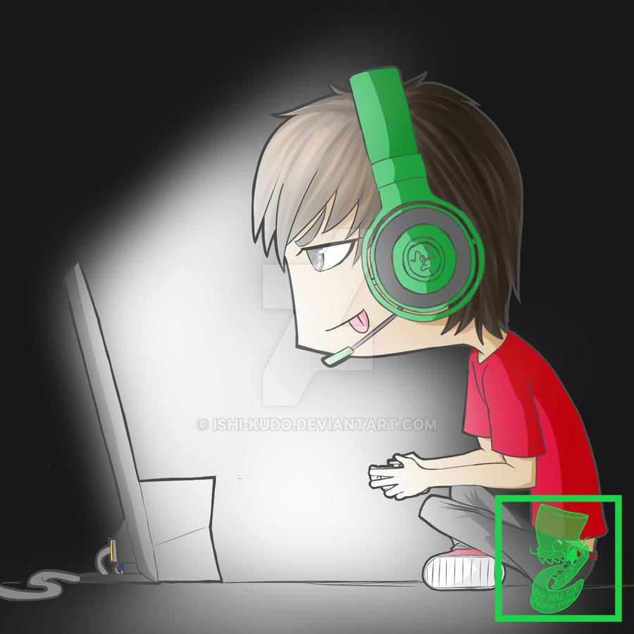 Otakuxela casual gamer chibi by ishi kudo on deviantart - Xbox anime gamer pictures ...